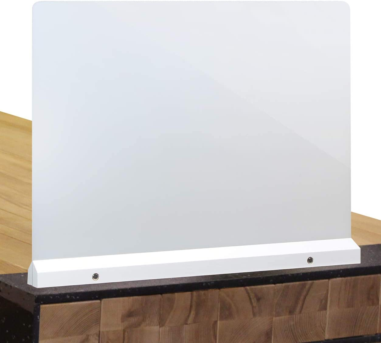 J JACKCUBE DESIGN Acrylic Desk Divider, Office Partition Board, Privacy Panel, Desktop Accessories for Classroom Cubicle Table Clear Boards 23.03 x 17.91 inches -MK529A
