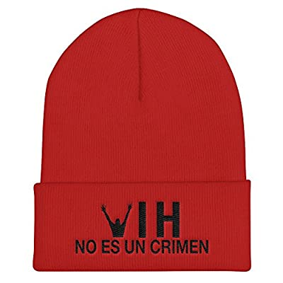 HIV is Not a Crime Hat Knit Beanie Cap - Spanish One Size Red