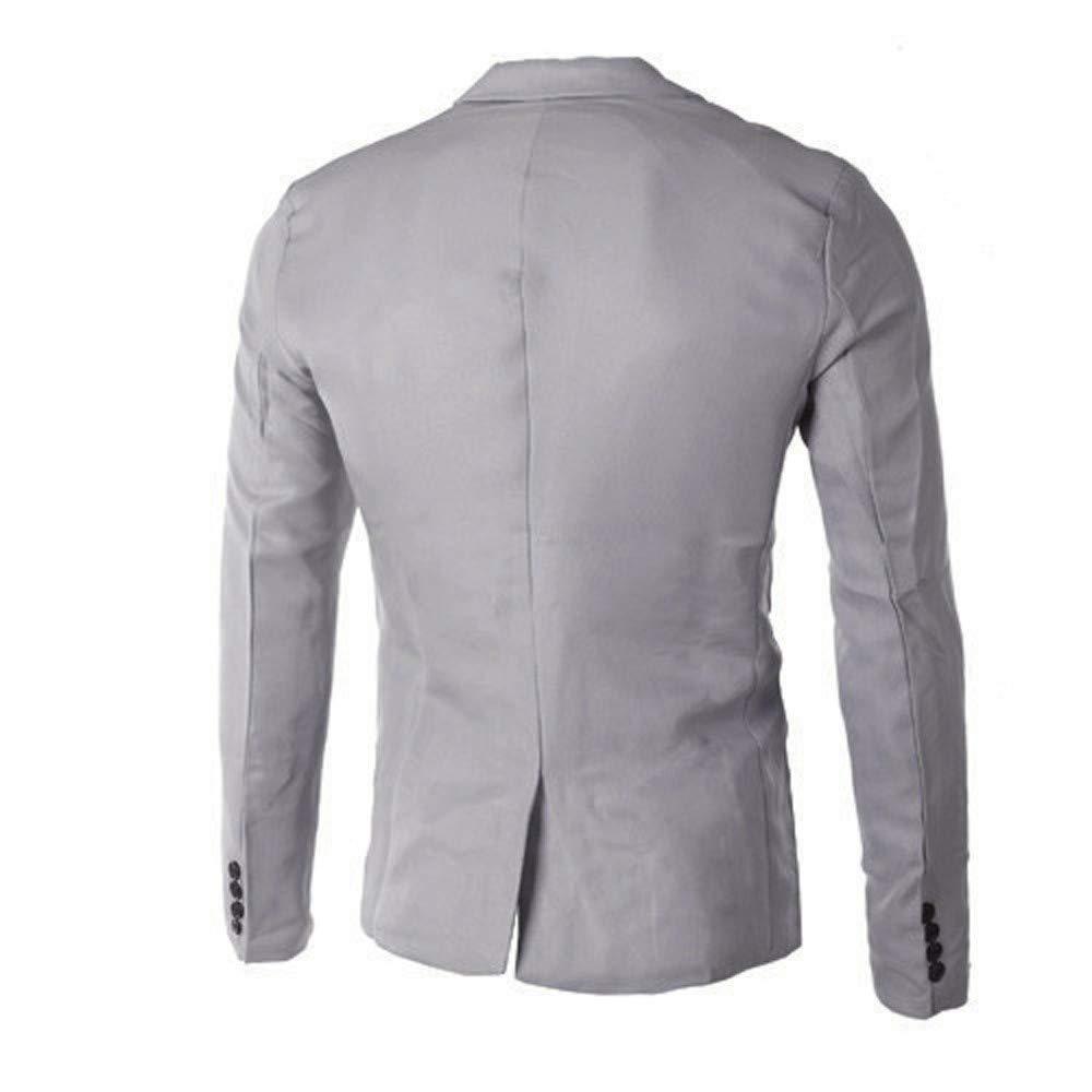 aa9567c42 BaZhaHei Invierno Abrigo Casual Sudadera de Capa Jacket Parka Pullover un  botón Traje Blazer Abrigo Chaqueta Tops Hombres Moda Chaqueta de Traje para  ...