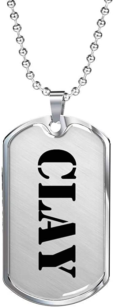 Luxury Dog Tag Necklace Personalized Name Gifts Clay