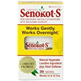 Senokot-S Natural Vegetable Laxative Ingredient Tablets, 30 Count