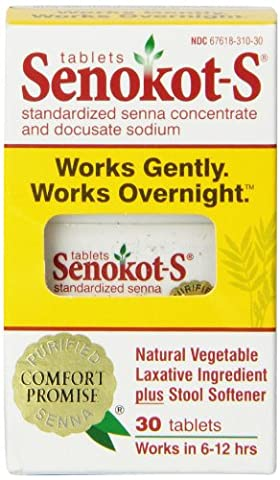 Senokot-S Natural Vegetable Laxative Ingredient Tablets, 30 Count - S&w Leather Saddle