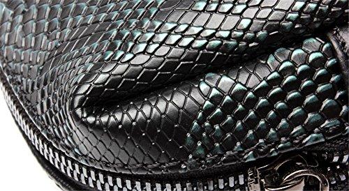 Xinmaoyuan Mujer bolsos de cuero Bolsos pequeños remaches Bolsa Bolso Messenger salvajes, gris Green