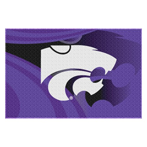 """Officially Licensed NCAA Kansas State Wildcats Rug, 20"""" x 30"""", Purple"""