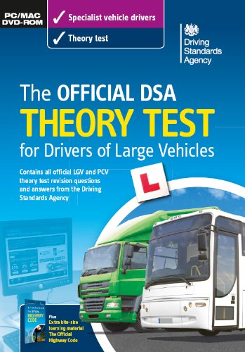 The official DSA theory test for drivers of large vehicles DVD-ROM
