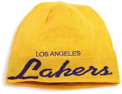 Los Angeles Lakers Adidas NBA Anniversary Draft Cuffless Knit Hat