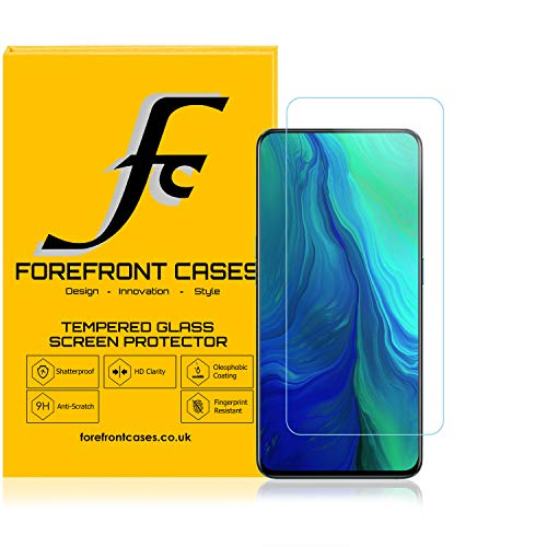 Forefront Cases Tempered Glass Screen Protector for Oppo Reno 10X Zoom [2 PACK] Guard Film Cover | Shock, Fingerprint & 9H Scratch Resistant | Crystal Clear HD Clarity Ultra-Thin 0.3mm & High-Response