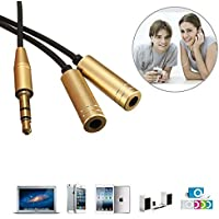 Purchase 3.5MM Male To 2 Female Earphone Headphone Audio Splitter Extension Cable Adapter / 3.5MM Male To 2 Female Earphone... cheapest