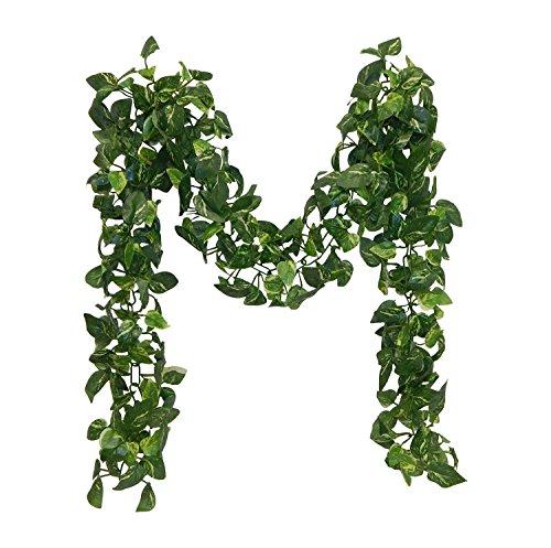 5.5' Pothos Chain Garland ~ Small Leaves Ivy Silk Wedding Decoration Flowers Artificial Arrangement Arch Decorations -