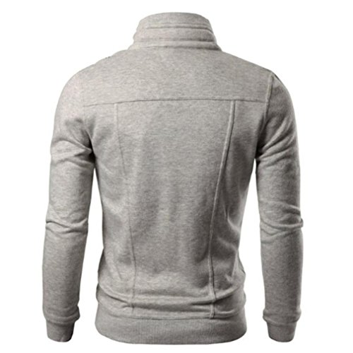 Morwind Giacca Grigio Outwear Cappotto Tinta Progettato Cardigan Unita Bavero Sottile Maschile SznSrxZfw