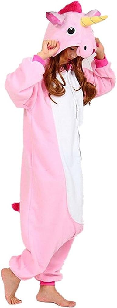 QUMAO Pijama Animal Unicornio Entero para Adultos Pijama Mono ...