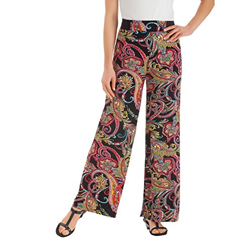 Paisley Palazzo Machine Washable Polyester