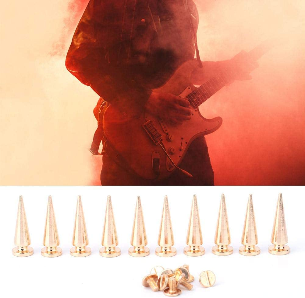 10 Sets Spikes Studs Gold Colorful Brass Spikes Punk Studs Rivet Bullet Screw Back Button Decoration for DIY Bag Shoes Leather Crafts