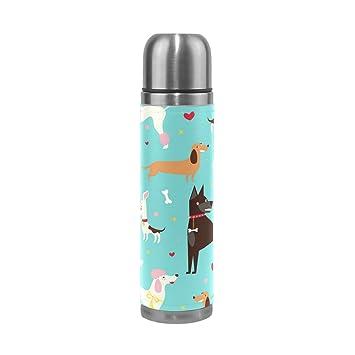 coosun Cute perros Patrón Thermos botella de agua de acero ...