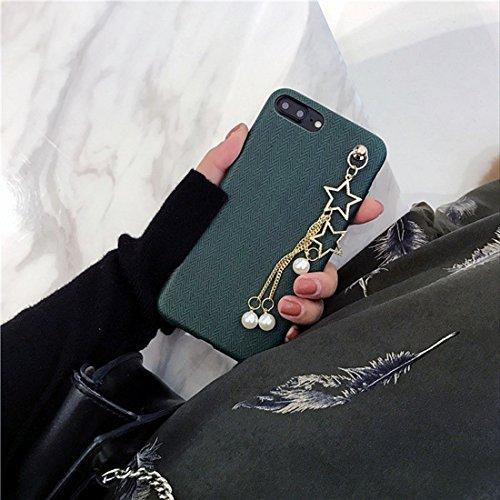 Hülle für iPhone 7 plus , Schutzhülle Für iPhone 7 Plus Cortex Texture Pearl Star Pandent Soft Schutzmaßnahmen zurück Fall Fall ,hülle für iPhone 7 plus , case for iphone 7 plus