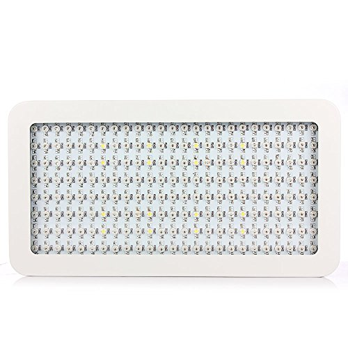 1200w Double Chips LED Grow Light Full Specturm for Greenhouse and Indoor Plant Flowering Growing (6wX200 Leds)