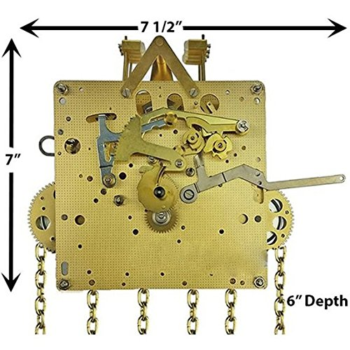 Hermle Clock Movement - Hermle 451-050 Chain Drive Grandfather Clock Movement (451-050/114cm)