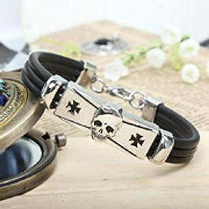 FVNR Bangle withPersonalized Alloy Titanium Steel Skull Punk Bracelet Jewelry