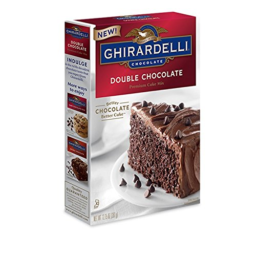 Ghirardelli Cake - Ghirardelli Chocolate - Double Chocolate Premium Cake Mix 12.75 oz. (Pack of 2)