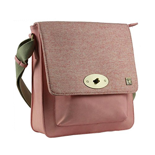 Pink Bag Tweed Bag Messenger Tweed Pink Messenger dwY0qqX7