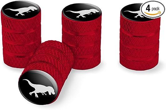 Graphics and More Dinosaur Tyrannosaurus Rex Black Tire Rim Valve Stem Caps