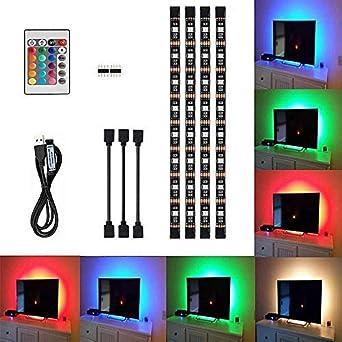 Nouvelles Arrivées mode de luxe plus gros rabais Ruban LED Bande usb, Imperméable Bande Led 2m, 5V Bande de Lumière Led USB  5050 30 Perles Led Ruban Lumineuse RGB Kit de Bande Rubans à LED TV Bande  ...