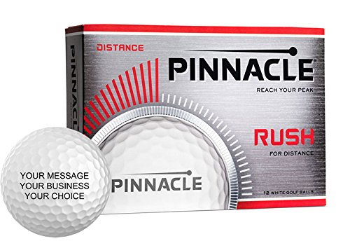 Pinnacle Rush Personalized Golf Balls - Add Your Own Text (1 Dozen) - -