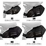 BV Bicycle Y-Series Strap-On Bike Saddle Bag/Bicycle Seat Pack Bag, Cycling Wedge Multi-Size Options