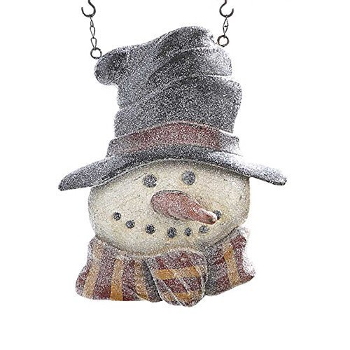 Top Hat Snowman Hanging Decorative Plaque for Arrow Hanger by K & K Interiors
