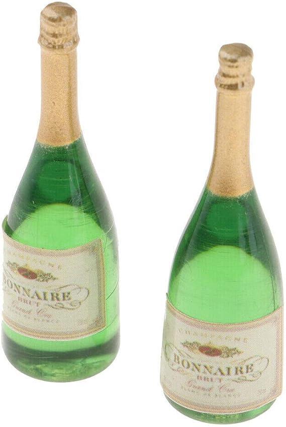 5pcs Mini Beer Champagne Wine Bottles Drink Dollhouse Home Pub Bar Decor Toys