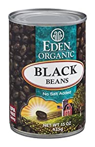 Eden Organic Black Beans No Salt Added 15 OZ (Pack of 6)