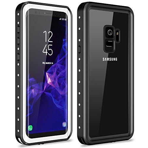Galaxy S9 Waterproof Case, Vapesoon Waterproof Shockproof Snowproof Clear Slim Armor Case for Samsung Galaxy S9 (5.8 inch)- (White/transperant)
