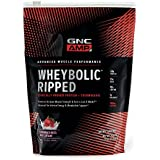 GNC AMP Wheybolic Ripped Whey Protein Powder, Strawberries and Cream, 9 Servings, Contains 40g Protein and 15g BCAA Per Serving