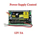 YuHan Power Supply Control for Door Access Entry System AC 110-240V to DC 12V 5A Worldwide Voltage