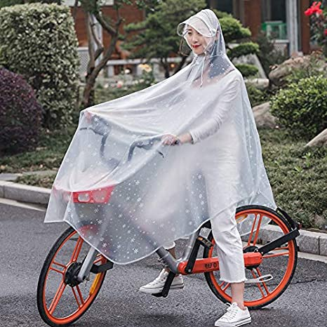 copo de nieve mate para bicicleta enzhe 4XL, s/ólido Chubasquero con capucha transparente con sombrero motocicleta protecci/ón completa al aire libre unisex