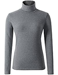Women's Soft Cotton Turtleneck Top Basic Pullover Sweater