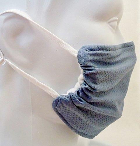 Breathe Healthy Honeycomb Steel Blue Mask - 2 Pack Deal! Washable Seasonal Allergy & Pollen Mask