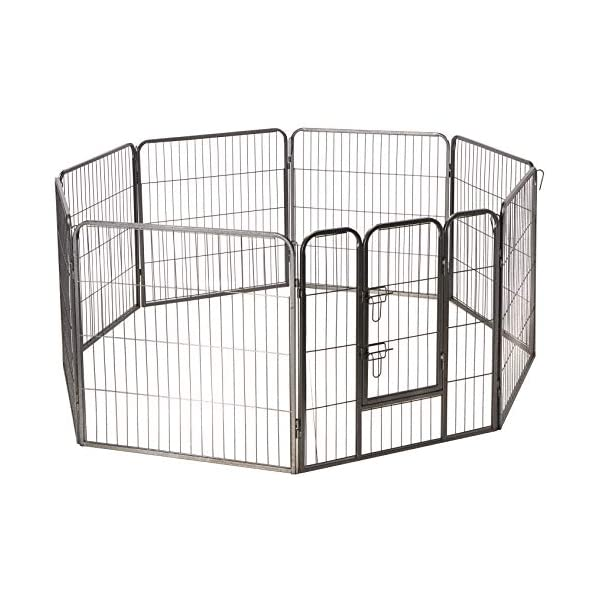 (80cm Inches) – Oxgord Dog Pet Playpen Heavy Duty Metal Exercise Fence Hammigrid 8 Panel 80cm Click on image for further info.