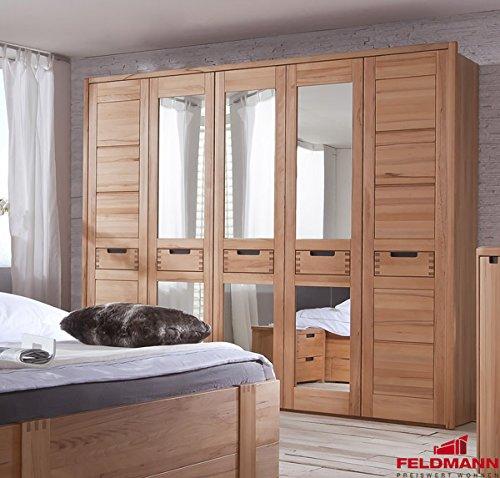 Kleiderschrank 61020 Schlafzimmerschrank 5-türig kernbuche teilmassiv 260cm