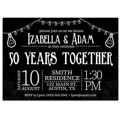 amazon com light bulbs 50th wedding anniversary party invitations