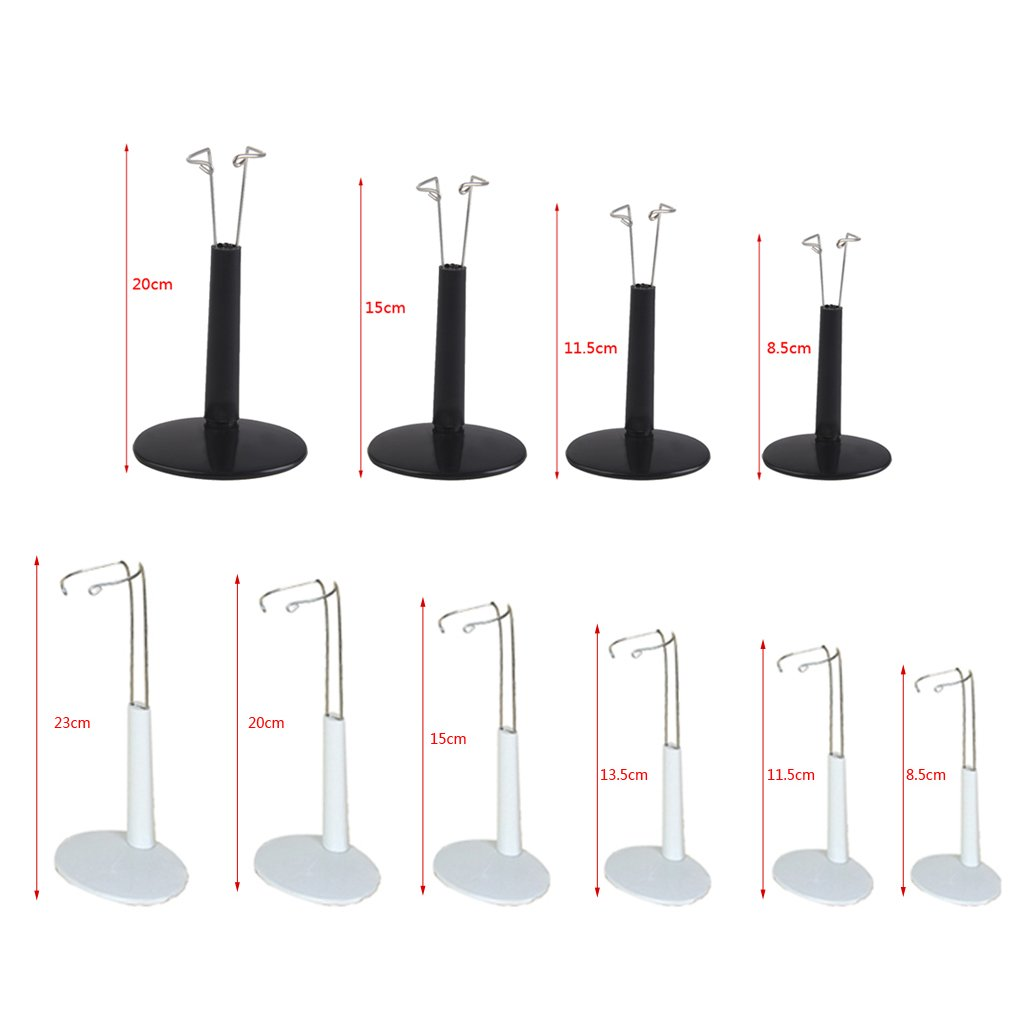 SM SunniMix 10 Set R/églable 20-25cm Poup/ée Support Daffichage Ours Support Stand Accessoires