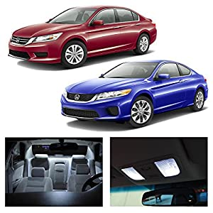 Honda accord 2013 2015 white led package kit - 2015 honda accord interior illumination ...