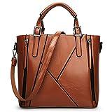 Women Handbag,Women Bag, KINGH Vintage PU Leather Shoulder Bag Casual Crossbody Bag 083 Brown