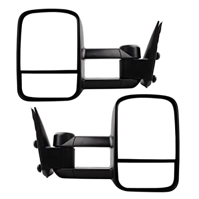 Towing Mirrors for 1999-2007 Chevy Silverado GMC Sierra 1500 2500 3500 Truck Manual Telescoping Side Mirrors Pair Set: Automotive