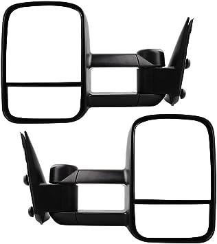 Power Mirrors Set fits 99-02 Silverado Sierra Pickup Truck Pair Black /& Chrome