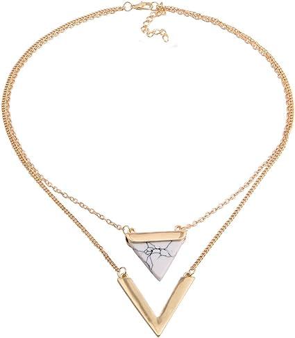 collier ras de cou triangle