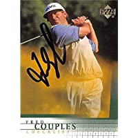 $44 » Fred Couples autographed golf card (PGA, Houston Cougars, SC) 2001 Upper Deck #198 - Autographed Golf Equipment