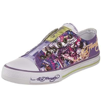 Ed Hardy Women's Low-rise Sneaker,Purple-10SLR208W,5 M US