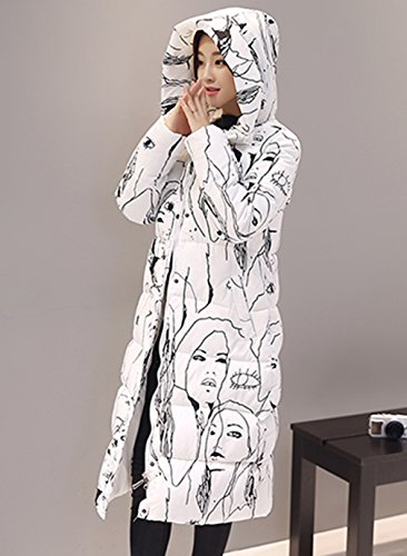Size b Jacket Down Coat Warm Lengthen Plus Women's Hooded Winter White Long Bigood RwZq4Exn