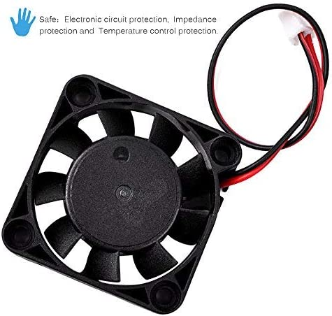 2 Pack 3D Printer Extruder Humidifier and Other Small Appliances DC Brushless Cooling Fan UCEC 4010 12V DC Axial Fan 40x40x10MM 2Pin for Computer Case